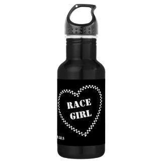 Rennen-Mädchen-Wasser-Flasche Edelstahlflasche