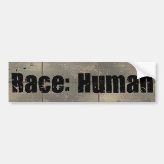 Rennen: Menschlich Autoaufkleber