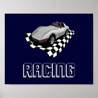 Rennen-Sport-Auto-schnelle laute gemeine Poster