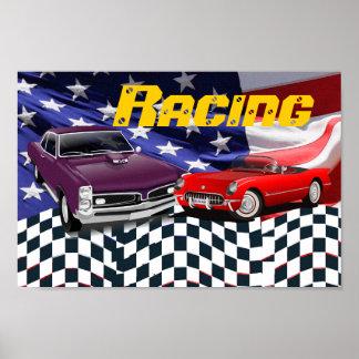 Rennen-Sport-Auto-schnelles lautes gemeines Poster