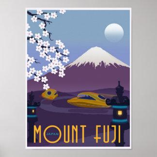 Rennen zum Fujisan in Ihrem Fliegenauto! Poster