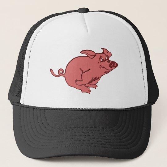 rennendes Schwein running pig Truckerkappe