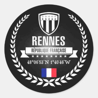 Rennes Runder Aufkleber