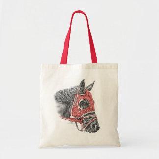 Rennpferd-Porträt-Seiden Tragetasche