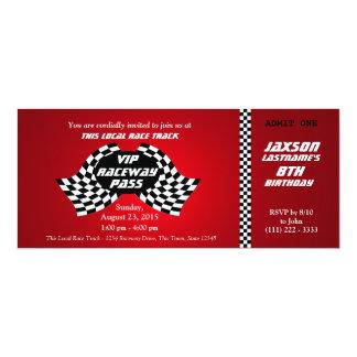 Rennstrecke-Durchlauf-Geburtstags-Karte 10,2 X 23,5 Cm Einladungskarte