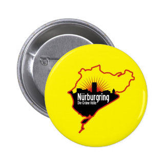 Rennstrecke Nurburgring Nordschleife, Deutschland Anstecknadelbutton