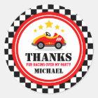 Rennwagen danken Ihnen, Umbau zu bevorzugen Runder Aufkleber