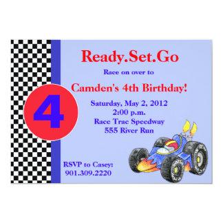 Rennwagen-Geburtstags-Einladung Karte