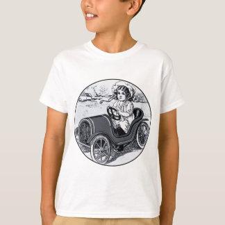 Rennwagen-Mädchen T-Shirt
