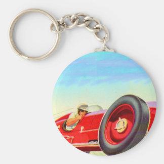 Rennwagen mit 1950 Rottönen Schlüsselanhänger
