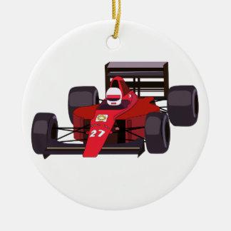 Rennwagen Rundes Keramik Ornament