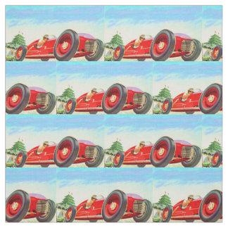 Rennwagendruck mit 1950 Rottönen Stoff