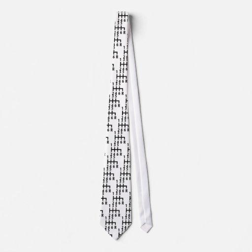 Rennwagenschwarzes mit 6 Schalthebeln Personalisierte Krawatte