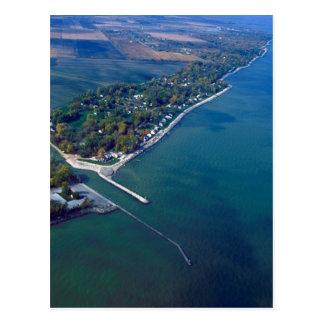 Reno-Strand an der Eriesee-Luftaufnahme Postkarte
