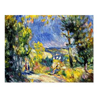 Renoir - Ansicht nah an Antibes Postkarte