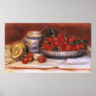 Renoir: Erdbeeren Poster