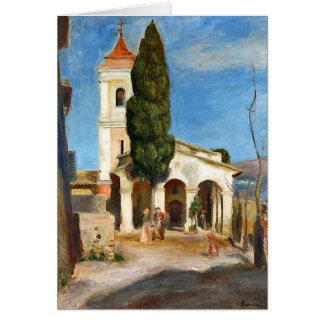 Renoir - Kapelle unserer Dame des Schutzes Grußkarte