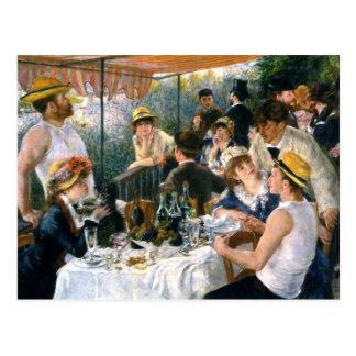 """Renoir, """"Mittagessen des Bootfahrt-Party"""" Postkarte"""