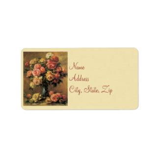 Renoir Rosen, die Adressen-Etiketten Wedding sind Adress Aufkleber