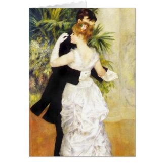 Renoir Tanz in der Stadt-Anmerkungs-Karte Mitteilungskarte
