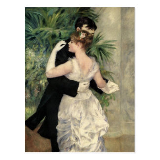 Renoir Tanzen in der Stadt-schönen Kunst Postkarte