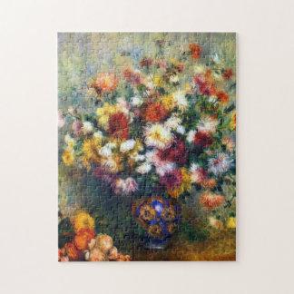 Renoir Vase Chrysantheme-schöne Kunst Puzzle