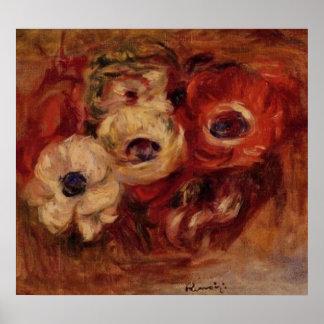 Renoirs Anemonen-Stillleben Plakate