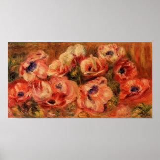 Renoirs Anemonen-Stillleben Poster