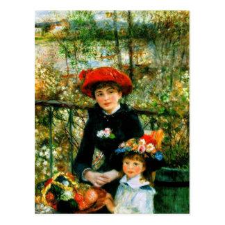 Renoirs 'die zwei Schwestern, auf dem Terrace Postkarte
