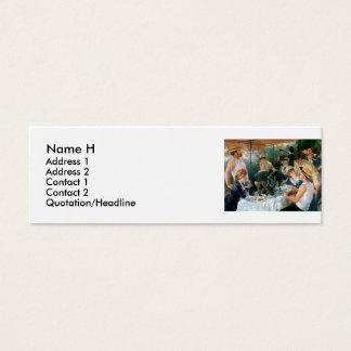 Renoirs Mittagessen des Bootfahrt-Party (1881) Mini Visitenkarte
