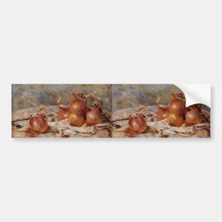 Renoirs Stillleben mit Zwiebeln (1881) Autoaufkleber