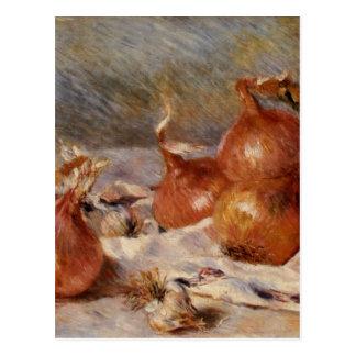 Renoirs Stillleben mit Zwiebeln (1881) Postkarte