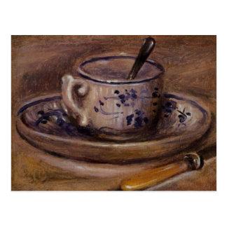 Renoirs Tasse und Untertassen-Stillleben Postkarten