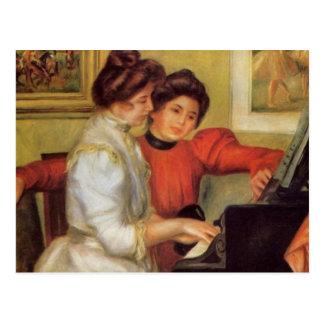 Renoirs Yvonne und Christine Lerolle am Klavier Postkarte