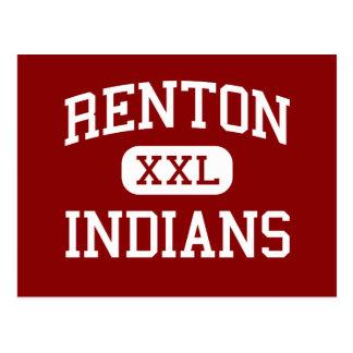 Renton - amerikanischer Ureinwohner - Highschool - Postkarte