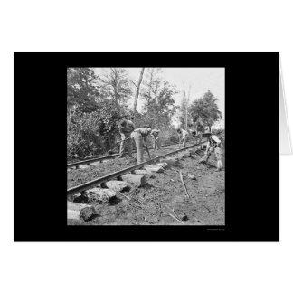 Reparatur der Bahnstrecke in Tennessee 1863 Karte