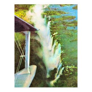 Replik der Vintage Sambesi, die Victoriafälle Postkarte