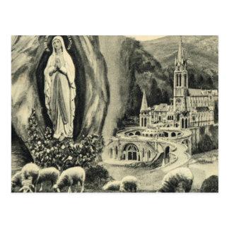 Replik-Vintage Postkarte Lourdes, Pilgrimage 1895