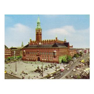 Replik Vintages Dänemark, Kopenhagen, Rathaus Postkarte