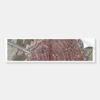Replikstadtkarte von Amsterdam 1652 Autoaufkleber
