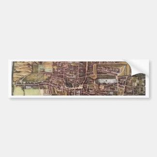 Replikstadtkarte von Den Haag 1649 Autoaufkleber