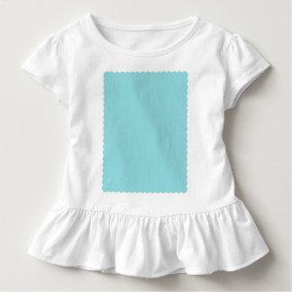 Reposedly herrliche blaue Farbe ausgebogter Rand Kleinkind T-shirt