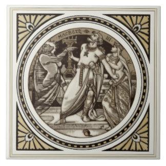 Repro Minton Shakespeare Macbeth literarische Keramikfliese
