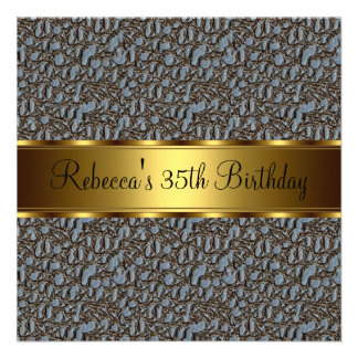 Reptil-Druck-35. elegantes Geburtstags-Party Individuelle Einladung