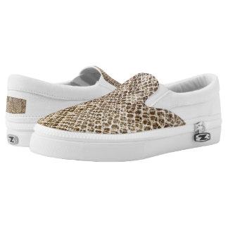 Reptil-Haut-Schlangenmuster Beleg auf Schuhen Slip-On Sneaker