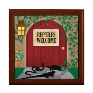 Reptil-Willkommen Schmuckschachtel
