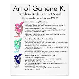 Reptilian-Vogel-Produkt-Blatt 1 Flyerbedruckung