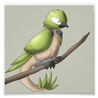 Reptilian-Vogel-Reptil-hybride Tiervogelkunst Foto Drucke