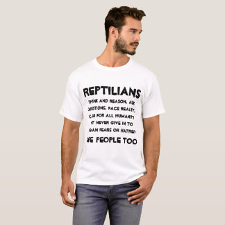Reptilians sind Leute auch T-Shirt