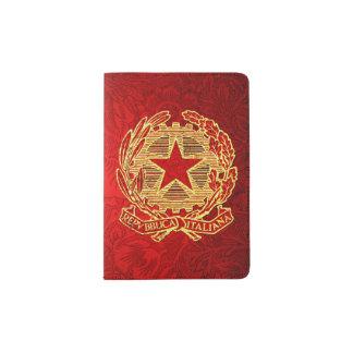 Repubblica Italiana Rosso Oro Fiore Passhülle